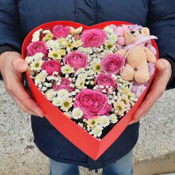 Коробка сердце Февральское утро