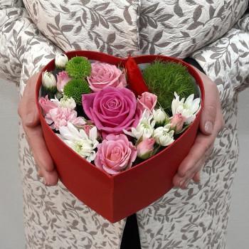 Сердце с цветами Восхищение