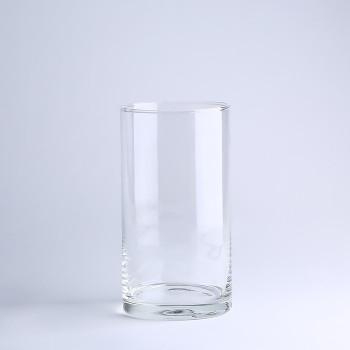 Ваза стеклянная цилиндр, средняя