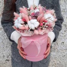 Букет из сухоцветов Розовая нежность