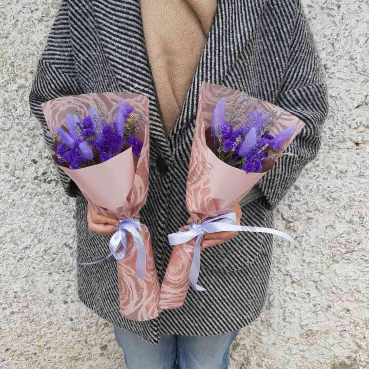 Букет из сухоцветов Фиолетовый комплимент