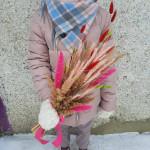 Букет из сухоцветов Розовая пшеница